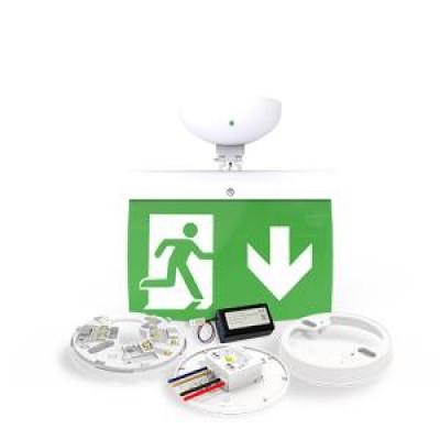 NFW-SDT / EL20D - 20m Korumalı Çıkış İşareti Kiti - AŞAĞI ok (ISO7010)